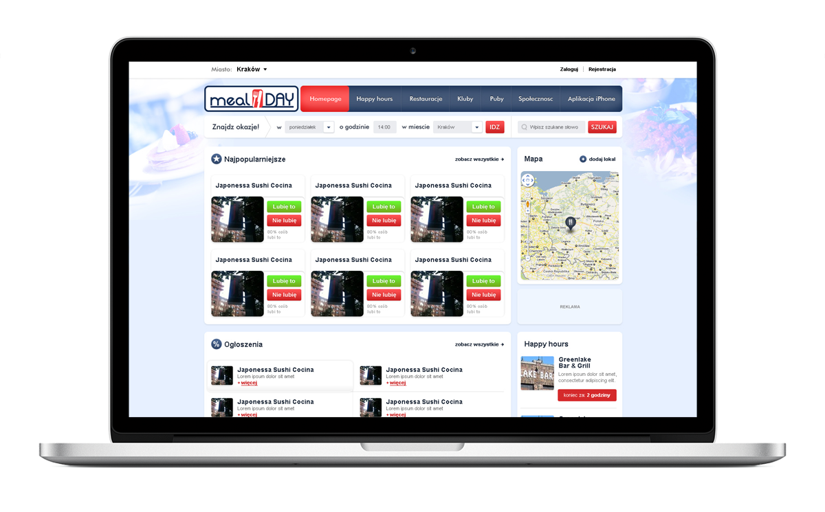 Strona WWW firmy MEALday