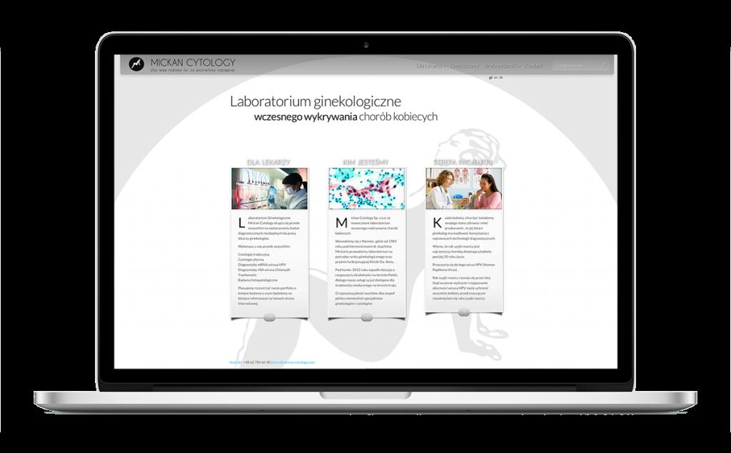 Strona WWW laboratorium MICKAN Cytology