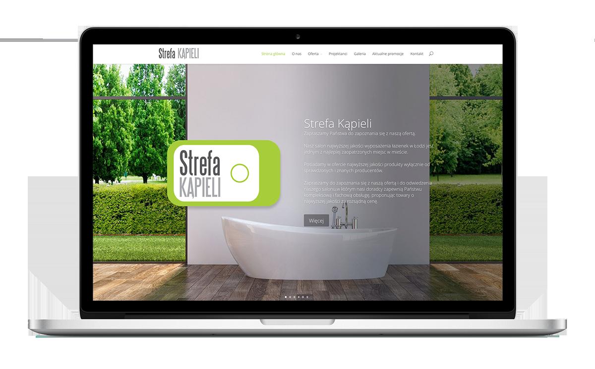 Strona WWW salonu łazienek STREFA KĄPIELI