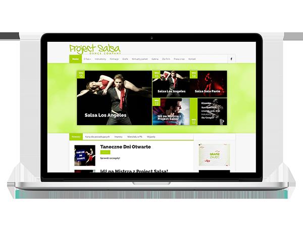 Strona WWW szkoły tańca Project Salsa