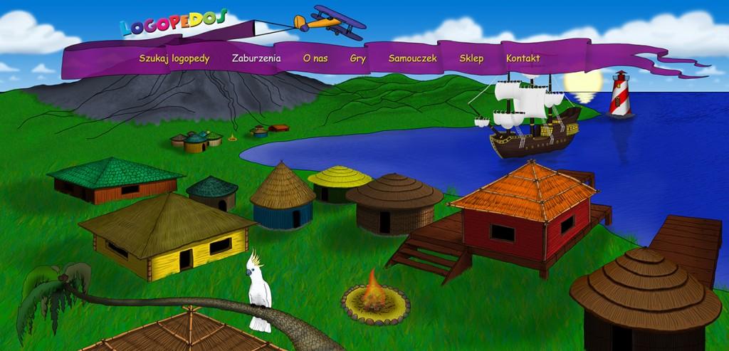Projekt graficzny strony głównej